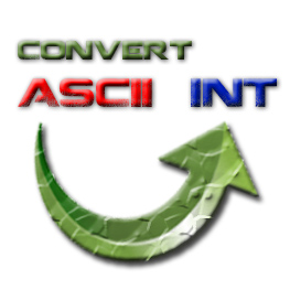 Converting ascii to int feature image