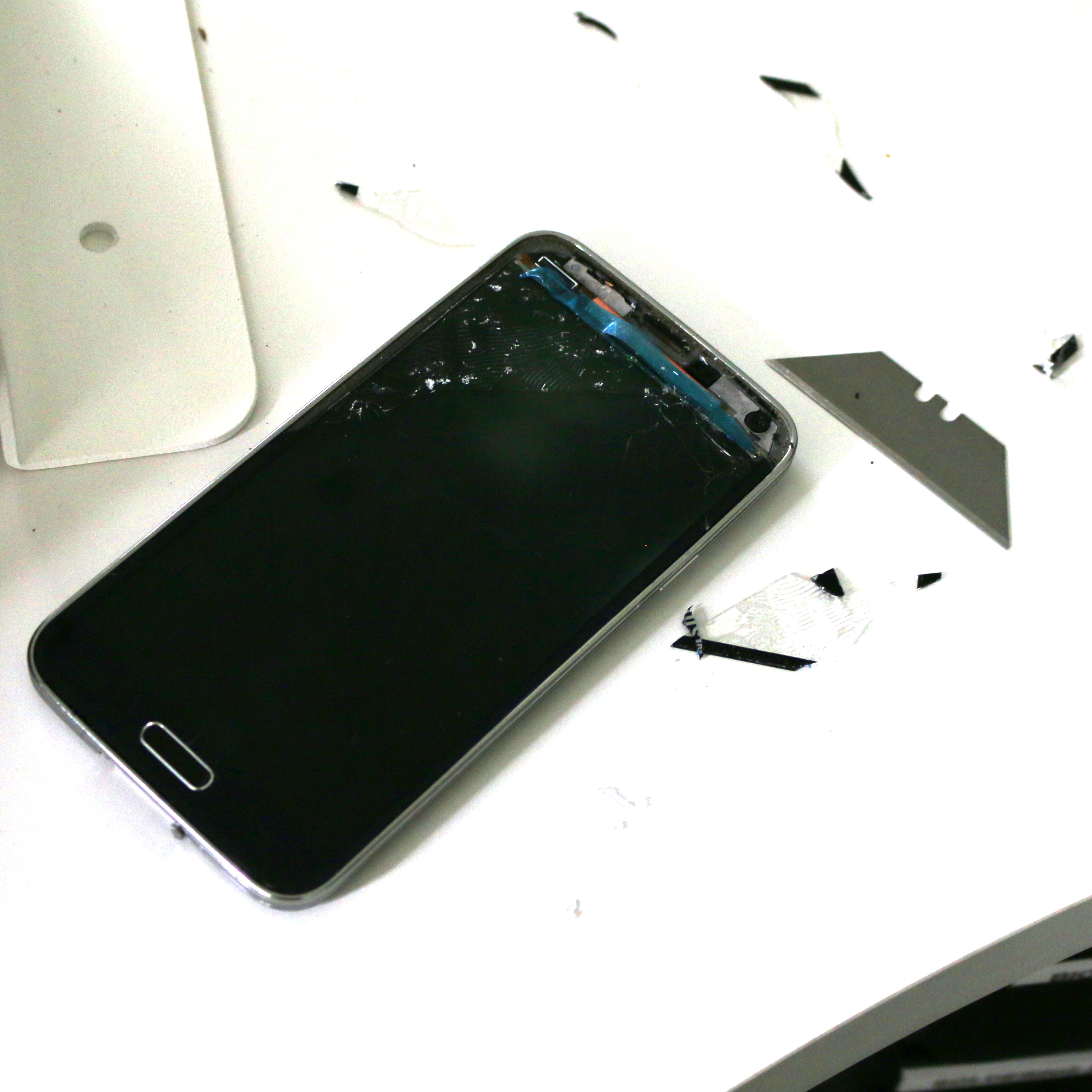 galaxy s5 all destroyed