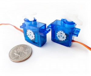Virtuabotix Microservos that were used to control servos with degrees